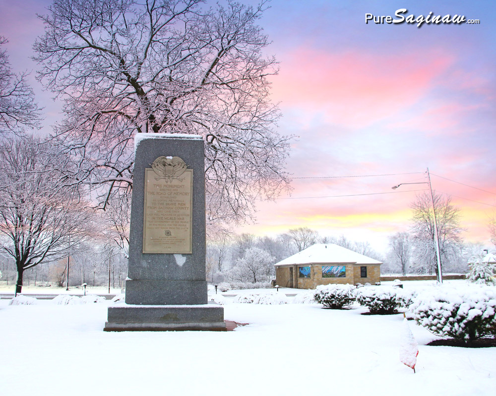 Saginaw County veterans memorial plaza