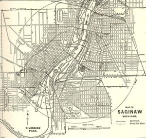Map of Saginaw from 1897