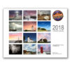 2018 michigan lighthouse wall calendar rear